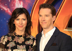 """attends the Avengers """"Infinity War"""" UK Fans Screening at the BBC Studio in London. 08 Apr 2018 Pictured: Benedict Cumberbatch and Sophie Hunter. Photo credit: Fred Duval / MEGA TheMegaAgency.com +1 888 505 6342"""