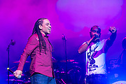 Guest artist Red Fox perfoming at the Biolife Sounds of Reggae at Brooklyn's Barclays Center.