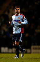 Photo: Jed Wee.<br /> Bolton Wanderers v Sevilla. UEFA Cup. 14/12/2005.<br /> <br /> Sevilla bring Argentine playmaker Javier Saviola on for the final few minutes.