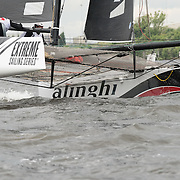 ALINGHI<br /> (SUI)<br /> Returning to the fleet for 2016, former Series champions Alinghi will be co-skippered by team principal Ernesto Bertarelli, who established the professional racing team in 2000, and Arnaud Psarofaghis. As two-time winners of the America's Cup and of the Extreme Sailing Series™, Alinghi's top-quality crew will be a strong contender in this year's fleet as they hunt for a third championship title. Now in its tenth season in 2016, the award-winning and adrenaline-fueled global Series has given the sport of sailing a healthy dusting-off. Bringing the action to the public with Stadium Sailing, putting guests at the heart of the battle and dramatically increasing the pace on the water, the creators of the Extreme Sailing Series™ have set new standards, both in terms of high level competition and sporting entertainment. With a new fleet of hydro-foiling GC32s replacing the Extreme 40 for the 2016 season the Extreme Sailing Series™ looks set to be another fast-paced and thrilling year.