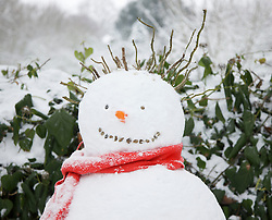 Close up of a snowman