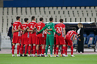 ATHENS, GREECE - OCTOBER 11: Moldova team prior to the UEFA Nations League group stage match between Greece and Moldova at OACA Spyros Louis on October 11, 2020 in Athens, Greece. (Photo by MB Media)