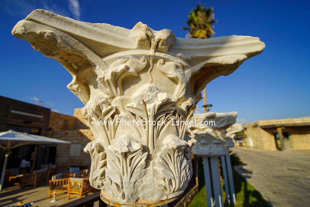 A roman pillar head, Caesarea, Israel.