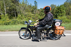 Robert Addis on his 1916 Henderson during the Motorcycle Cannonball Race of the Century. Stage-3 from Morgantown, WV to Chillicothe, OH. USA. Monday September 12, 2016. Photography ©2016 Michael Lichter.