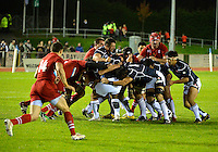 Conwy, UK. Friday, 15 November 2013<br /> Pictured: Luke Thompson of Japan starts a rolling maul.<br /> Re: Japan v Russia rugby at Parc Eirias, Conwy, North Wales, United Kingdom.