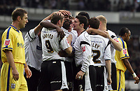 Photo: Paul Thomas.<br /> Derby County v Southampton. Coca Cola Championship. Play Off Semi Final, 2nd Leg. 15/05/2007.<br /> <br /> Darren Moore and Derby celebrate his goal.