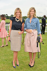 Left to right, sisters MARINA FOGLE and OLIVIA WILKINSON  at the Cartier Queen's Cup Final 2016 held at Guards Polo Club, Smiths Lawn, Windsor Great Park, Egham, Surry on 11th June 2016.