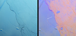 Mar 7, 2016 - Antarctica - The shape of the world is hanging by a thread or rather, according to experts, by a 110 mile-long (177km) rift. That's the extent of a rapidly expanding crack in an enormous ice shelf in Antarctica. When the Larsen C shelf finally splits, the largest iceberg ever recorded (bigger than the US state of Rhode Island and a third the size of Wales) will snap off into the ocean. Widening each day by 3 ft (1 m), the groaning cleft is on the verge of dramatically redrawing the southern-most cartography of our planet and is likely to lead, climatologists predict, to an acceleration in the rise of sea levels globally. (Credit Image: © NASA via ZUMA Wire/ZUMAPRESS.com)