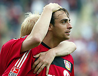 v.l. Carsten RAMELOW  , Dimitar BERBATOV Jubel 1:0<br /> Bundesliga Bayer 04 Leverkusen - VfB Stuttgart 2:0