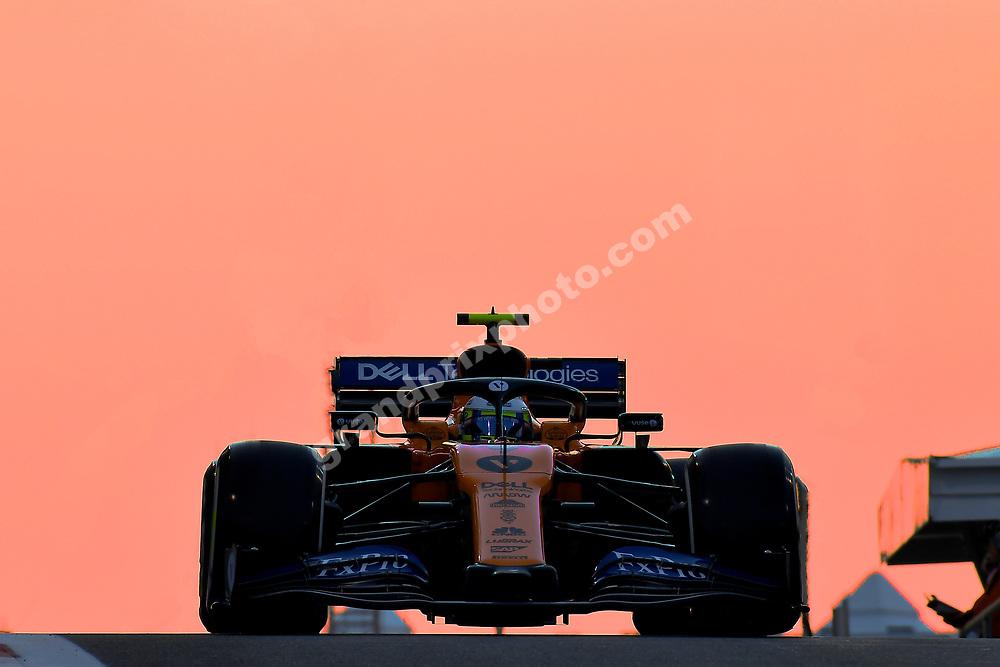 Lando Norris (McLaren-Renault) during practice before the 2019 Abu Dhabi Grand Prix at Yas Marina. Photo: Grand Prix Photo