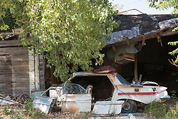 broken down car in rural America