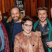 NLD/Amsterdam/20190107 - Inloop voorpremière Stan & Ollie, Evert Santegoeds met partner Robert, Geert-jan Knoops en partner Carry Hamburger
