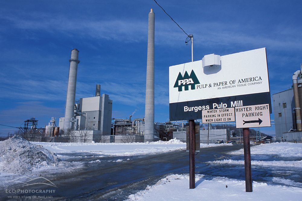 Pulp and Paper of America's Berlin paper mill. Northern Forest.  Berlin, NH