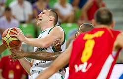 Uros Slokar of Slovenia during friendly basketball match between National teams of Slovenia and Montenegro of Adecco Ex-Yu Cup 2011 as part of exhibition games before European Championship Lithuania 2011, on August 7, 2011, in Arena Stozice, Ljubljana, Slovenia. Slovenia defeated Crna Gora 86-79. (Photo by Vid Ponikvar / Sportida)