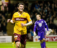 07/04/15 SCOTTISH PREMIERSHIP<br /> MOTHERWELL V ST MIRREN<br /> FIR PARK - MOTHERWELL<br /> Motherwell's John Sutton celebrates scoring his second.