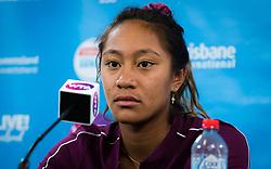 December 31, 2018 - Brisbane, AUSTRALIA - Destanee Aiava of Australia talks to the media after her first-round match at the 2019 Brisbane International WTA Premier tennis tournament (Credit Image: © AFP7 via ZUMA Wire)