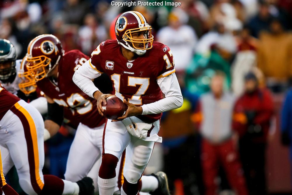 21 Dec 2008:Washington Redskins quarterback Jason Campbell #17  during the game against the Philadelphia Eagles on December 21st, 2008. The Redskins beat the Eagles 10-3 at FedEx Field in Landover, Maryland.