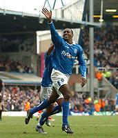 Fotball<br /> Premier League England 2004/2005<br /> 18.12.2004<br /> Foto: SBI/Digitalsport<br /> NORWAY ONLY<br /> <br /> Birmingham City v West Bromwich Albion<br /> Barclays Premiership. 18/12/2004<br /> <br /> Birmingham City's Emile Heskey celebrates scoring his side's third goal of the match.