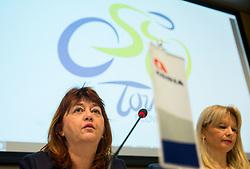 Mojca Novak and Maja Pak during press conference of cycling race 24th Tour de Slovenie 2017, on May 4, 2017 in Telekom Slovenije, Ljubljana, Slovenia. Photo by Vid Ponikvar / Sportida