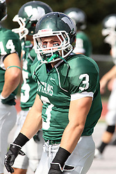 12 October 2013:  T. J. Stinde during an NCAA division 3 football game between the North Park vikings and the Illinois Wesleyan Titans in Tucci Stadium on Wilder Field, Bloomington IL