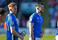 EFL branding on players shirts during the EFL Sky Bet League 1 match between Rochdale and Charlton Athletic at Spotland, Rochdale, England on 5 May 2018. Picture by Paul Thompson.