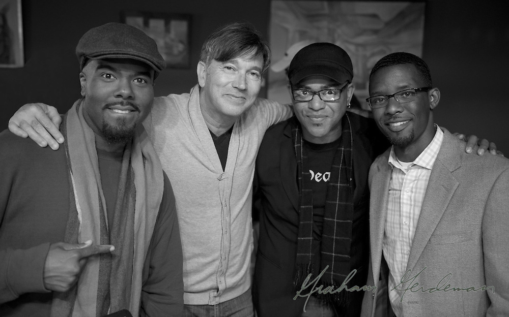 Group shot after a sold out performance at Nine48Jazz in Nashville, TN - with (L to R) Hamilton Hardin, Rick Braun, DeMarco Johnson, and Cord Martin.