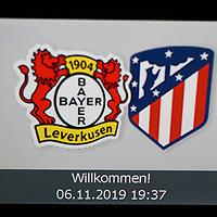 06.11.2019, BayArena, Leverkusen, Championsleague, Vorrunde, 4. Spieltag, GER, UEFA  CL, Bayer 04 Leverkusen (GER) vs. Atletiko Madrid (ESP),<br />  <br /> DFL regulations prohibit any use of photographs as image sequences and/or quasi-video<br /> <br /> im Bild / picture shows: <br /> Willkommen auf den Scananlagen <br /> <br /> Foto © nordphoto / Meuter<br /> <br /> <br /> <br /> Foto © nordphoto / Meuter