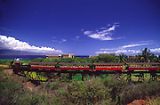Sugar cane train, Kaanapali, Maui, Hawaii<br />