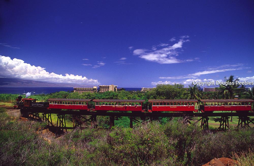 Sugar cane train, Kaanapali, Maui, Hawaii<br />