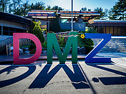 PAJU, GYEONGGI, SOUTH KOREA: The entrance to the Third Infiltration Tunnel in the Korean DMZ. Tourism to the Korean DeMilitarized Zone (DMZ) has increased as the pace of talks between South Korea, North Korea and the United States has increased. Some tours are sold out days in advance.      PHOTO BY JACK KURTZ