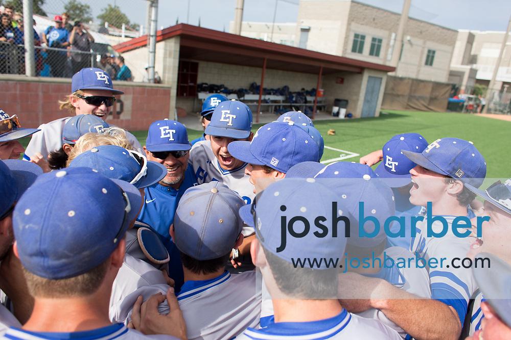 El Toro team during the CIF-SS Division 1 Baseball Semifinal: El Toro v Mater Dei at Mater Dei High School on Tuesday, May 30, 2017 in Santa Ana, California. (Photo/Josh Barber)