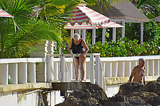 Judi Dench and friends pictured on the beach in Barbados - 1 Feb 2020