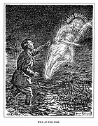 Will-O'-The-Wisp. (Hitler is foolishly drawn further into the Russian swamp by the ghostly light of World Domination)