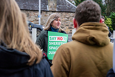 Scottish Greens campaign against proposed junction at Sheriffhall, Edinburgh, 13 January 2020