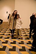 LUCIA MUNOZ AND DIEGO MUNOZ, Reception, private view and dinner.; Juan Munoz- A Retrospective. Tate Modern. -DO NOT ARCHIVE-© Copyright Photograph by Dafydd Jones. 248 Clapham Rd. London SW9 0PZ. Tel 0207 820 0771. www.dafjones.com.