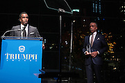 October 16, 2012-New York, NY : (L-R) Music Executive/Recording Artist/Actor Sean Combs aka P. Diddy and Rev. Al Sharpton, Founder & President, National Action Network at the 3rd Annual National Action Network Triumph Awards held at Jazz at Lincoln Center on October 16, 2012 in New York City. The Triumph Awards were established by the National Action Network to recognize the contributions of humanitarians from all walks of life and to encourage future generations to drum majors for justice.(Terrence Jennings)