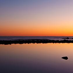 Tide Pool, Atlantic Ocean at dawn, Rye, New Hampshire.