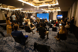 during Dallas Mavericks Press Conference to formalise the deal with Luka Doncic, 10 August, 2021, Intercontinental Hotel, Ljubljana, Slovenia. Photo by Grega Valancic