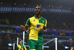 Cameron Jerome of Norwich City celebrates after scoring the equalising goal to make it 1-1  - Mandatory byline: Matt McNulty/JMP - 07966 386802 - 31/10/2015 - FOOTBALL - City of Manchester Stadium - Manchester, England - Manchester City v Norwich City - Barclays Premier League