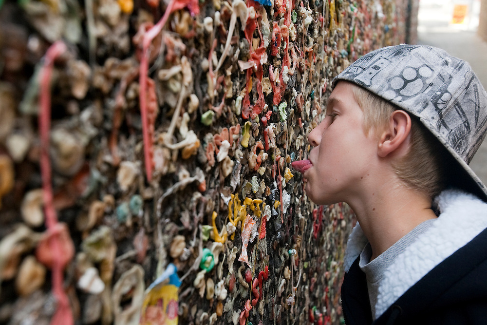 A small alley known as Bubble Gum Alley runs between buildings in downtown San Luis Obispo and dates back, according to some local historians, to World War II. The alley walls are lined with chewed gum.