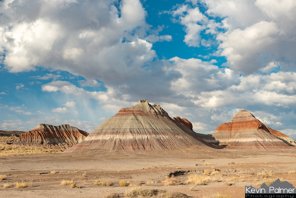 These buttes in Petrified Forest National Park are known as the Three Tepees.