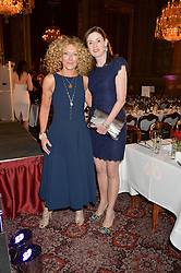 Left to right, KELLY HOPPEN and AMANDA BERRY at the LDNY Fashion Show and WIE Award Gala sponsored by Maserati held at The Goldsmith's Hall, Foster Lane, City of London on 27th April 2015.