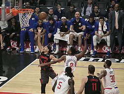 December 17, 2018 - Los Angeles, California, United States of America - Seth Curry #31 of the Portland Trailblazers goes for a basket during their NBA game with the Los Angeles Clippers on Monday December 17, 2018 at the Staples Center in Los Angeles, California. Clippers lose to Trailblazers, 127-131. JAVIER ROJAS/PI (Credit Image: © Prensa Internacional via ZUMA Wire)