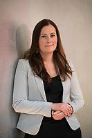 DEU, Deutschland, Germany, Berlin, 10.05.2021: Portrait von Janine Wissler, Co-Parteichefin und Spitzenkandidatin der Linkspartei für die Bundestagswahl.