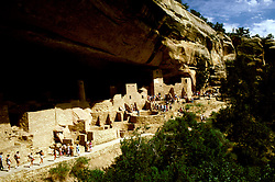 CO: Colorado Mesa Verde National Park, Cliff Palace  .Photo Copyright: Lee Foster, lee@fostertravel.com, www.fostertravel.com, (510) 549-2202.Image comesa201.