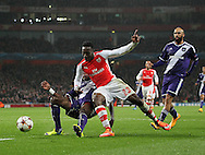 Arsenal's Danny Welbeck fires in a shot<br /> <br /> - Champions League Group D - Arsenal vs Anderlecht- Emirates Stadium - London - England - 4th November 2014  - Picture David Klein/Sportimage