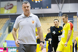Ivica Obrvan, head coach of F.Y.R. Macedonia during friendly handball match between National Teams of Slovenia and F.Y.R. of Macedonia before EHF EURO 2016 in Poland on January 5, 2016 in Arena Zlatorog, Celje, Slovenia. Photo by Urban Urbanc / Sportida