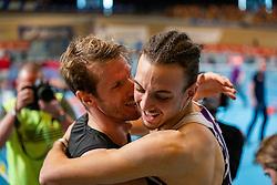 Thijmen Kupers, Djoao Lobles after the 800 meter during AA Drink Dutch Athletics Championship Indoor on 21 February 2021 in Apeldoorn.