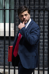 Downing Street, London, May 17th 2016. Work and Pensions Secretary Stephen Crabb leaves the weekly cabinet meeting in Downing Street.