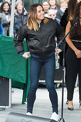 © Licensed to London News Pictures. 05/03/2017.  Former Spice Girls Melanie C takes part in a rally raising awareness of women and girls in third world countries who spend days walking for water. March also marks CARE's annual celebration for International Women's Day. London, UK. Photo credit: Ray Tang/LNP